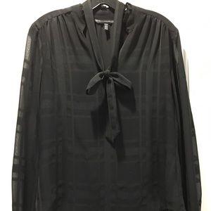 WHITE HOUSE BLACK MARKET Tie Neck Blouse